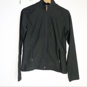 Lucy - Black Zip Up Athletic Jacket- Size M